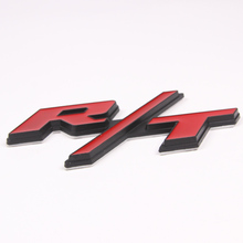 Quality Auto Car Metal Alloy Red R/T RT Emblem Badge Decal Sticker Fit for Dodge Challenger Charger Car-styling Accessory
