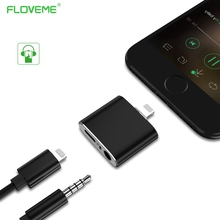 FLOVEME Audio Converter For Lightning To 3.5mm For iPhone 7 8 Plus Splitter Earphone Jack Aux USB Cable Stereo Headphone Adapter