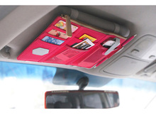 universal car Visor Organizer Canvas Sun Visor Storage Pouch Bag for Card Cell Phone holder