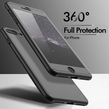 For Apple iPhone 7 6 6s Plus Luxury 360 Degree Protection Mobile Phone Case Capa Cover Coque + Nano Glass iPhone6 iPhone 7 Case