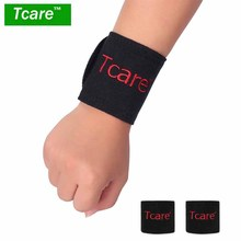 1 Pair Magnetic Therapy Tourmaline Wrist Brace Protection Belt Spontaneous Heating Massager(China)