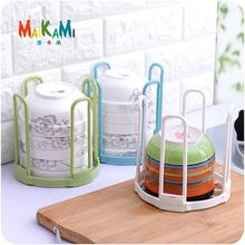 Durable Healthy Plastic Dish Plate Fold Rack Holder Stand Dry Shelf Storage Canteen Kitchen Supplies Good Helper(China)