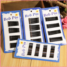 60pcs Girl Headwear Black Clips Bobby Pins Invisible Wavy Grips Salon Barrettes Hairpins Hair Accessories For Women Hairclip