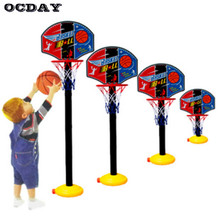 OCDAY Kids Sports Portable Basketball Toy Set with Stand Ball & Pump Toddler Baby Toy Balls For Toddler Baby Kids Indoor Games