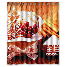 Christmas Beautiful Decorations Customized Unique Fabric Bath curtain Bathroom products Curtains 48x72, 60x72, 66x72 inches