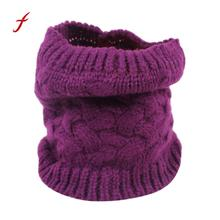 Feitong Quality Women Men Scarves Winter Warm Infinity Cable Woolen Knitted Bandana Neck Cowl Collar Scarf Shawls Soft Poncho(China)