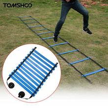 TOMSHOO 17 FOOT Quick Flat Rung Speed Resistance Agility Ladder Soccer Speed Training Ladder Best Outdoor Fitness Exercise
