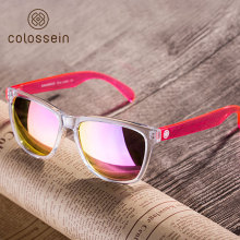 COLOSSEIN Sports Sunglasses Women Fashion Sun glasses Colorful Square Frame Eyewear Holiday Beach Style Adult Glasses(China)