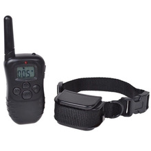 A6Rechargeable LCD 100 Level Shock Vibra Dog Remote Training Collar 300 Yards VE870 T0.41