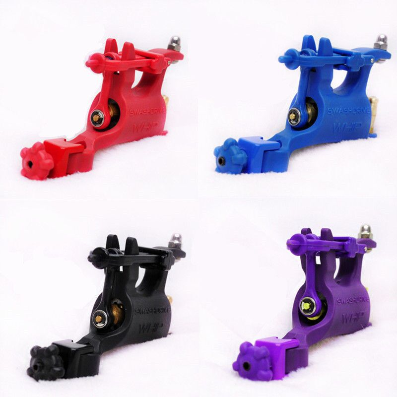 New 4 Mixed Professional WHIP Plastic Rotary Tattoo Supply Machine Gun For Shader &amp; Liner<br>