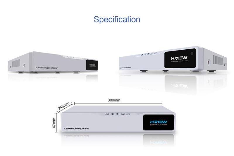 H.VIEW 8ch CCTV Surveillance Kit 4 Cameras Outdoor Surveillance Kit IR Security Camera Video Surveillance System DVR Kits (13)