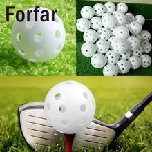 Forfar 10pcs Hollow Plastic Golf Ball Indoor Outdoor Sports Trainer Swing Practicing Training