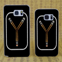 B1302 Flux Capacitor Fluxing Transparent Hard PC Case Cover For Samsung Galaxy S 3 4 5 6 7 Mini Edge Plus Note 3 4 5 7