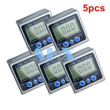 5pcs 1Lot Digital Protractor Inclinometer Level Box Level Measuring Tool Electronic Angle Meter Angle Finder Angle Gauge