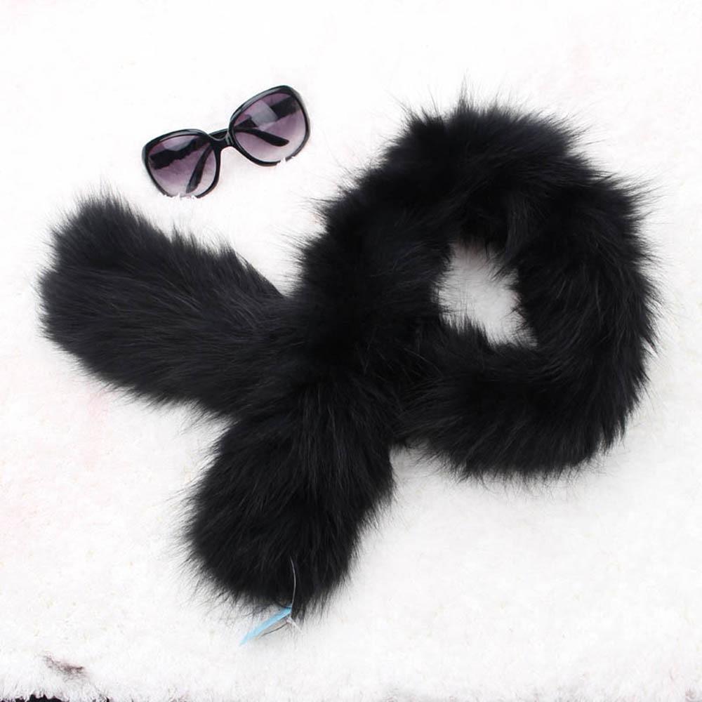 fox fur scarf black color