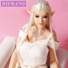 Rifrano 158cm/165cm Plump Boobs Euramerican Elf Realistic Silicone Sex Dolls for Men Women Anas Vagina Adult Sex Dolls(China)