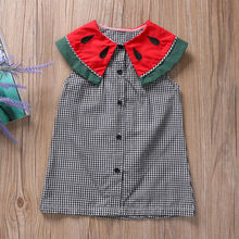Cute Plaid Baby Girls dress Infant Watermalons Princess Wedding Summer Party Casual Dress(China)