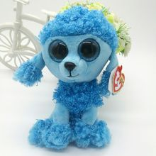 "MANDY - blue poodle TY BEANIE BOOS collection 15CM 6"" BIG EYE Plush Toys Stuffed animals KIDS TOYS Children toy soft toys(China)"