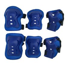 New 6pcs/set Children's Skateboard Wheel Slide Protection Pads Kids Roller Skating Knee Elbow Wrist Protector Guard Pads Kit(China)
