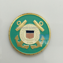 the United States coast guard America great seal coin Washington D.G.  City Eagle gold challenge coins