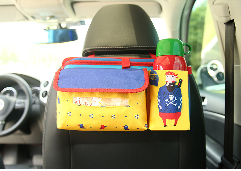 Strollers Accessories Universal Baby Car Hanging Basket Storage Bag Car Seat Back Organizer With Tablet Holder Travel Storage Bagstroller Accessories