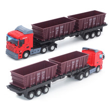 New  Metal Model Toy Red Blue Orange Bg Truck Car Toys Children Small Tractors Birthday Gifts 27m*4.6cm*7cm