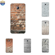for Samsung Galaxy J2 J5 J7 Prime TPU Bumper Phone Case for ON5 ON7 2016 Shell for S4 S5 Cover Transparent Brick Pattern(China)