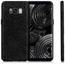 New Hard Case Cover for IPhone 8 6 6s 7 Plus Galaxy S7 Edge S8 Plus Case Back Thin Slim Grid Mosaic Glitter Bling Cases Rugged