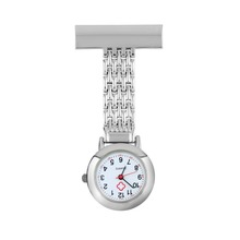 OUTAD Nurse Pocket Watch Stainless Steel Arabic Numerals Red Cross Quartz Brooch Doctor Nurse Pocket Fob Watch Without Logo(China)