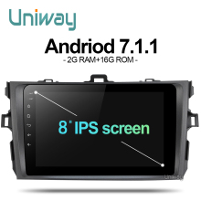 AKLL8071 uniway 2G+16G android 7.1.1 car dvd for toyota corolla 2008 2007 2009 2010 2011 car radio gps player head unit(China)