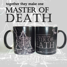 Drop shipping  Magic Master of Death Mugs Changing color Heat Sensitive morph mugs