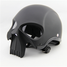 Skull Motorcycle Helmet/Halley Davidson Horrible Fashionable Retro Vintage Safety Popular Skeleton Helmets(China)