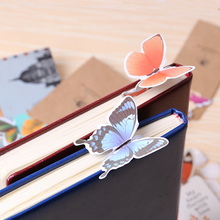 14 PCS 3d Butterfly Bookmark for Beautiful Birthday Gift Book Mark Festival Gift Paper Bookmark(China)