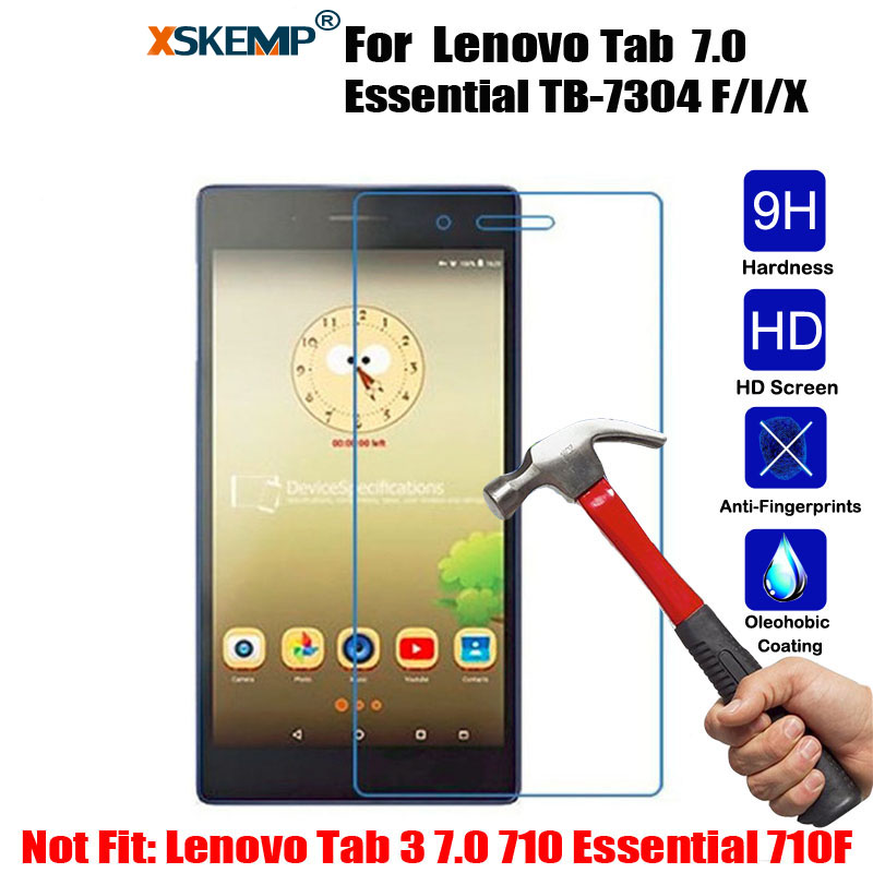 XSKEMP 9H Premium Tempered Glass Screen Protector Lenovo Tab 7 Essential TB-7304 F/I/X 0.3mm Tablet Protective Glass Film