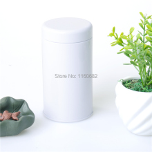 6.5X12.5cm Round  white  tea pot / metal storage case / candy  tin box / wholesale