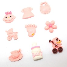 <9pcs/lot>  diy resin cabochon flatback resin embellishments for scrapbook baby shower gifts