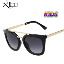 XIU Vintage Kids Sunglasses  Brand Sun glasses Children Glasses Cute Designer Fashion Oculos De Sol Infantil Hipster