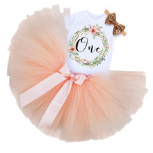 Kid Girls 1st Birthday Princess Dress Newborn Infant Baby Girl Christmas Outfit Floral Tutu Ball Gown Party Dresses Girl Clothes(China)