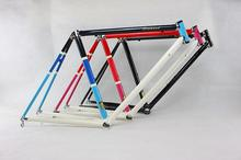 Reynolds 525chrome-molybdenum steel frame 650C road bike racing frame within the frame alignment design Vintage Bicycle frame(China)