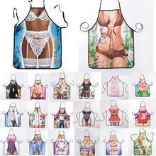 1Pcs Fashion Sexy Women Printed Apron Bibs Home Cooking Baking Party Funny Cleaning Aprons Kitchen Accessories 46094
