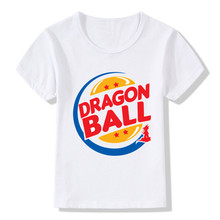 2017 Children Dragon Ball Z Logo Print Funny T-Shirts Kids Summer Tops Boys/Girls Short Sleeve Clothes Kpop Baby T shirt,HKP2192