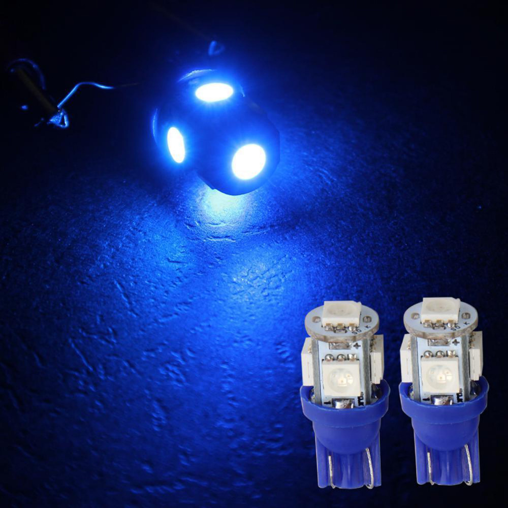20pcs Car Style T10 5050 SMD Strobe LED Light Bulb Auto Wedge Side Reading Clearance Tail Lamp  Blue/ Red/ Green /Yellow<br><br>Aliexpress