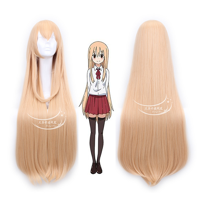 Anime Himouto! Umaru-chan Himoto! Fashion 100cm Long Straight Light Orange Synthetic Hair Wigs Umaru Doma Cosplay Wig<br><br>Aliexpress