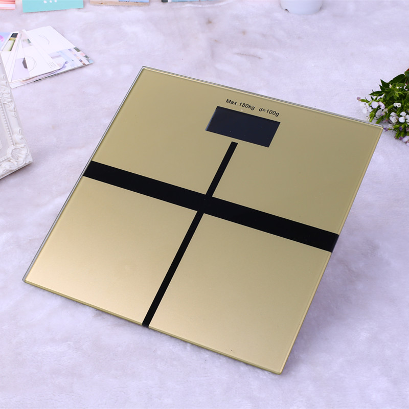 High-end toughened glass smart household scales electronic body bariatric LCD display division bathroom floor scale max 180kg <br>