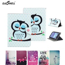 Universal PU Leather Case for 9.7'' 10'' 10.1'' inch Tablet PC Flip Stand Cover Print Pattern For Samsung for iPad Stylus Pen(China)