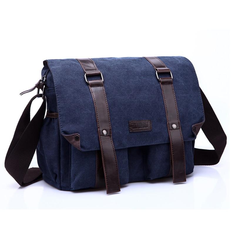 Mens Canvas Handbag Bag Vintage Messenger Bag Brand Business Handbags Casual Travel Shoulder Bag Men Crossbody Bags Male Bolsa<br>