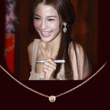 AAA Fashion Single CZ Pendant Sexy Fine Thin Clavicle Chains Necklace Carter Jewelry For Women