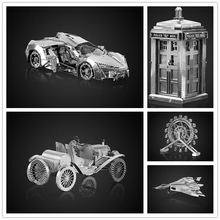 Original NANYUAN Doctor Who TARDIS 3D Metal assembling model Barrett sniper rifle F1 CAR PUZZLE TOY Home Furnishing furnishings