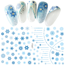 Snowflake design ADhesive decals Nail Art decorations Stickers acrylic nail accessories beauty tools winter style F267-270(China)