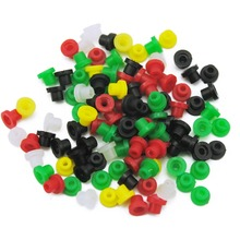 Wholesale 100pcs Colorful Tattoo Machine Needles Rubber  Nipples Tattoo Supplies Accessories